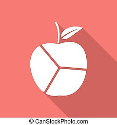 Apple with a long shadow