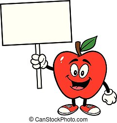 Apple with a Sign
