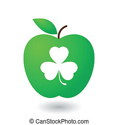 Apple with clover icon