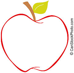 Apple With Color Outline
