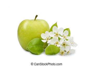 apple with flower closeup