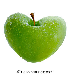 Apple With Heart - apple with carved heart, gorgeous crisp...