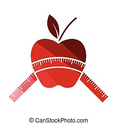 Apple with measure tape icon