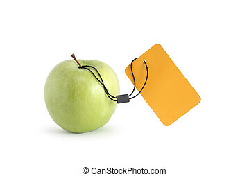 Apple With Price Tag