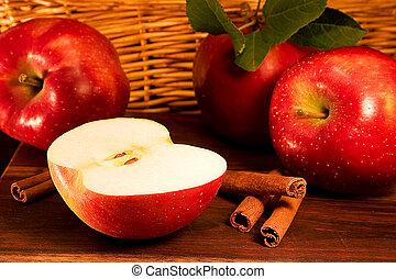 apples, корица