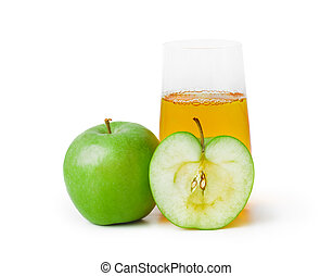 Apples and glass of juice