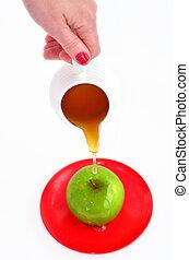 Apples and Honey - Rosh Hashanah Jewish holiday - Jewish...