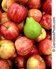 apples and pear background