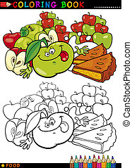 Apples and Pie for coloring