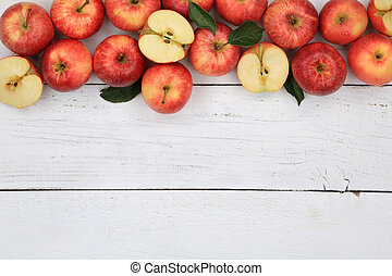 Apples apple fruit fruits red copyspace top view