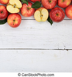 Apples apple fruit fruits red square copyspace top view