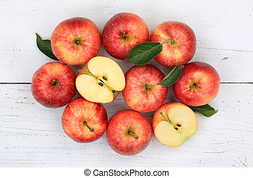 Apples apple fruit fruits red top view