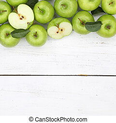 Apples apple fruit fruits square green copyspace top view