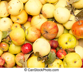 Apples as background