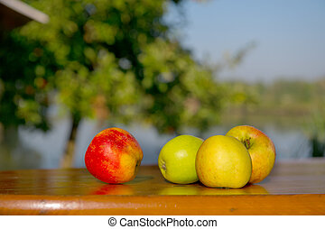 Apples at the table