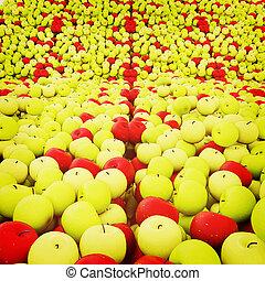 apples background. 3D illustration. Vintage style.