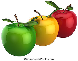 apples., dulce, individualidad, concepto