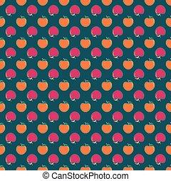 apples., illustration, vecteur