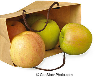 Apples in a paper package