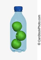 apples in bottle