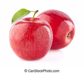 Apples in closeup