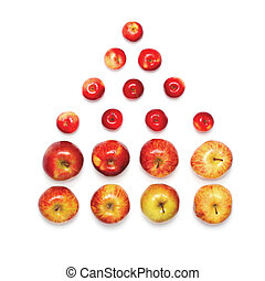 Apples in the shape of house isolated on white background