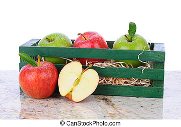Apples in Wood Crate