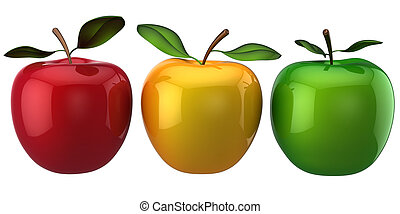 Apples. Individuality concept