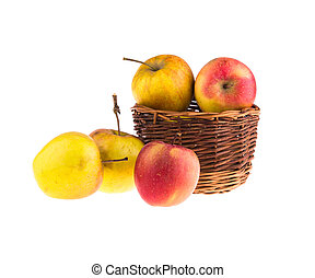 Apples, isolated on a white background.