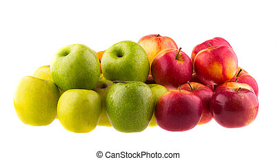 Apples isolated on white background.