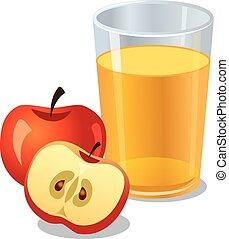 apples juice - glass of apple juice