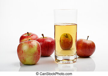Apples & juice glass
