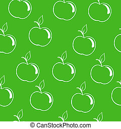 apples on a dark green background - seamless pattern,...
