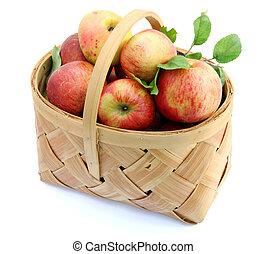Apples on basket