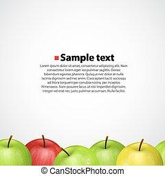 Apples on white. Sameness background