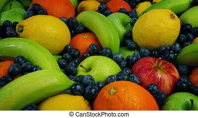 Apples, Oranges, Lemons, Bananas And Berries Arrangement -...