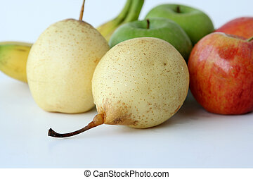 apples, pears, and banana fruit