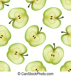 Apples seamless pattern. Vector