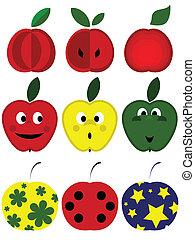 Apples set.