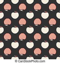 apples., vecteur, illustration