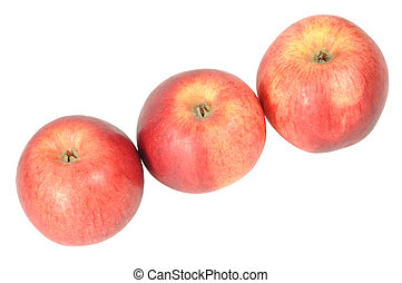 Apples with clipping path