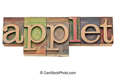 applet, concept, -, logiciel