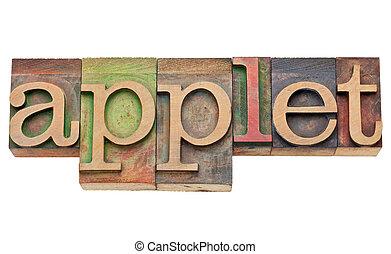 applet, concepto, -, software