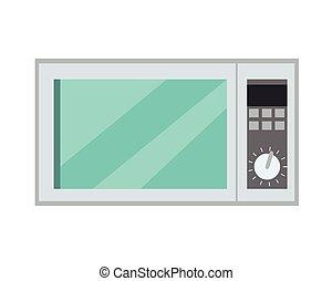 appliance., isolé, micro ondes, vecteur, four, cuisine