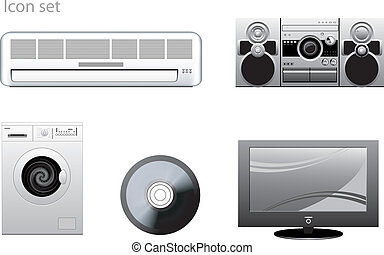 appliance vector icons set
