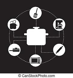appliances design - appliances design over black background...