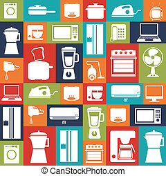 Appliances design over colorful background, vector...