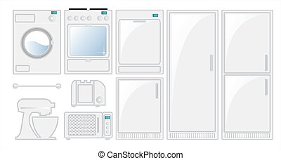 Appliances - Kitchen appliances in a fresh modern style