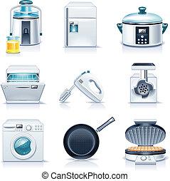 appliances., háztartás, vektor, p.3