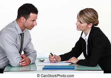 Applicant and recruiter